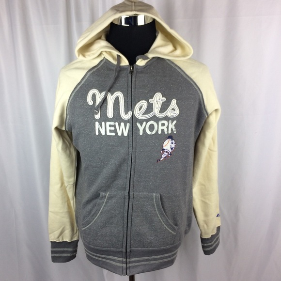 timeless design 1f777 9b60a New York Mets Womens Large Zip Up Hoodie MLB BBall